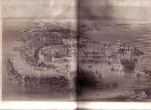 Plano antiguo de Venecia
