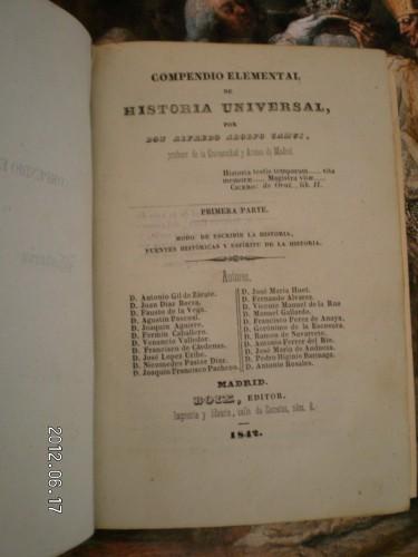 """El """"Compendio de Historia Universal"""", de Alfredo Adolfo Camús"""