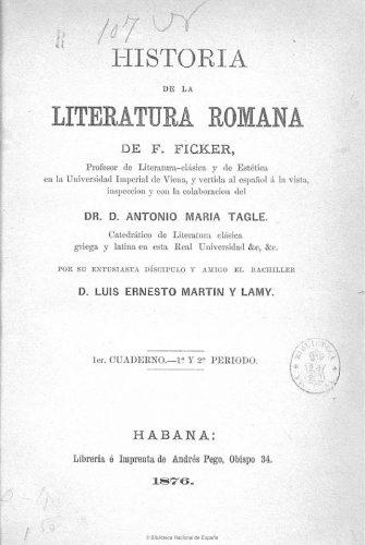 El manual de Ficker en su interesante versión española, publicada en Cuba
